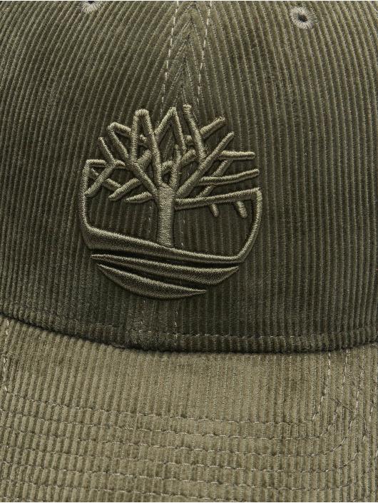 Timberland Snapback Corduroy olivová