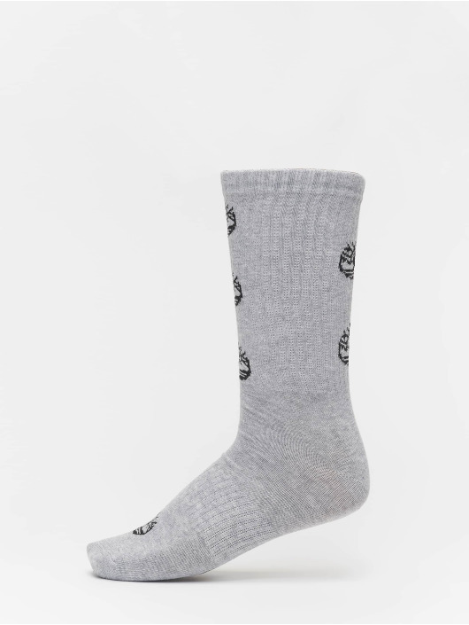 Timberland Socks Logo Pattern 2 Pack grey