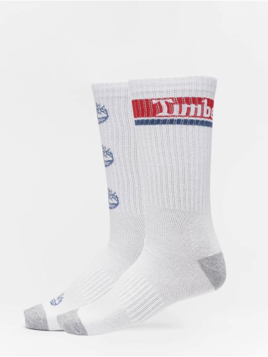 Timberland Socks Logo Pattern 2 Pack white