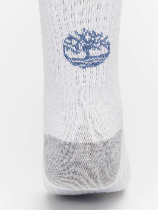 Timberland Socks Logo Pattern 2 Pack white