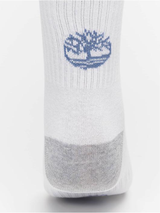 Timberland Sokker Logo Pattern 2 Pack hvit