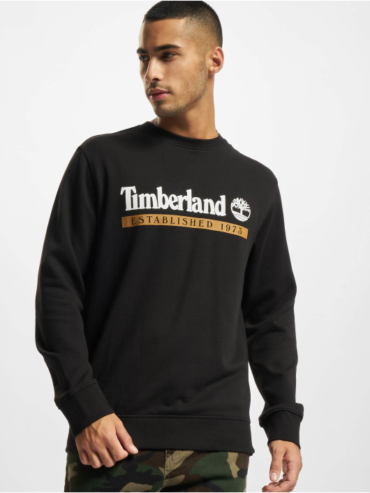 Timberland Swetry Established 1973 Crewneck czarny