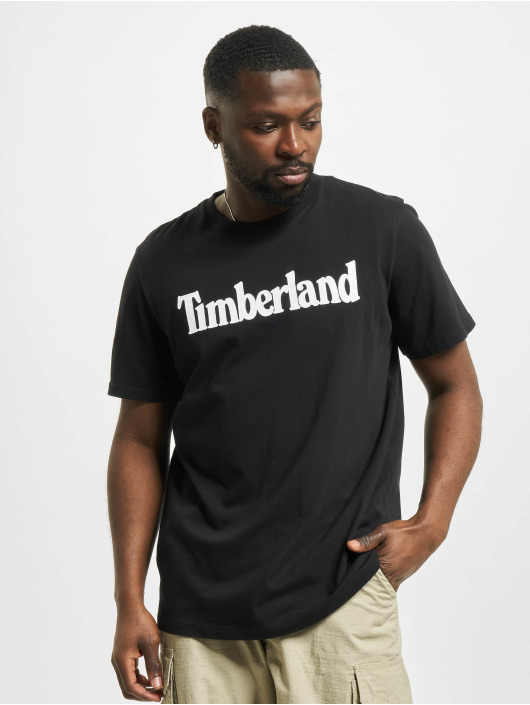 Timberland T-paidat K-R Brand Linear musta