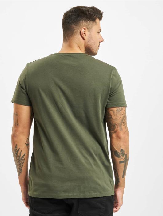 Timberland T-paidat Ss Kr Linear Regular vihreä