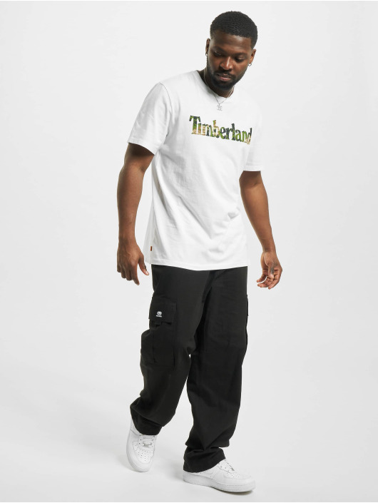 Timberland T-shirt Ft Linear bianco