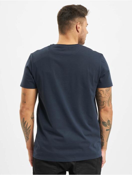 Timberland T-shirt Ss Kr Linear Regular blå