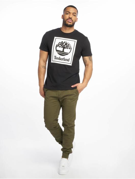 Timberland T-Shirt YCC Stack Logo ECL black