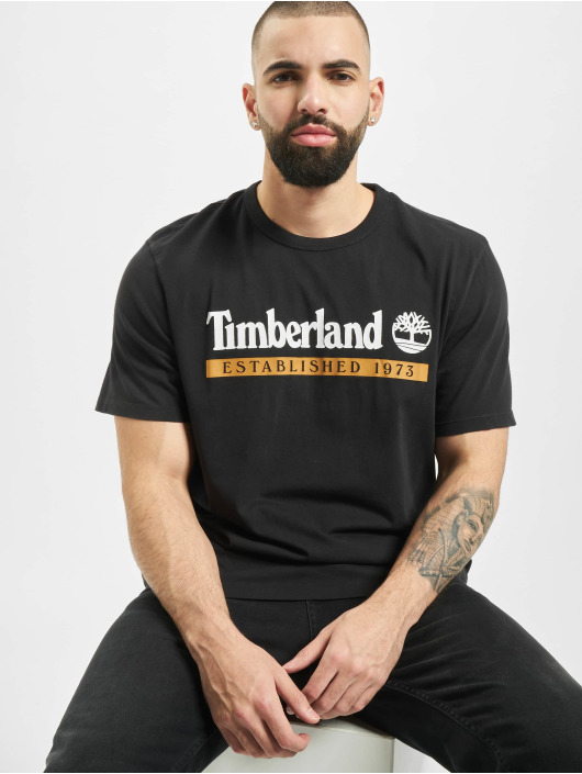 Timberland T-Shirt SS Estab 1973 Boot black