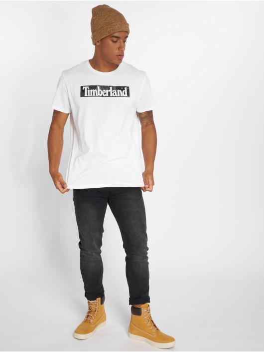 Timberland T-Shirt SSNL Pattern blanc