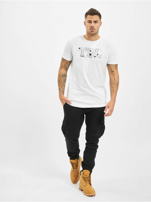 Timberland T-Shirt Ss Reflective Multig blanc