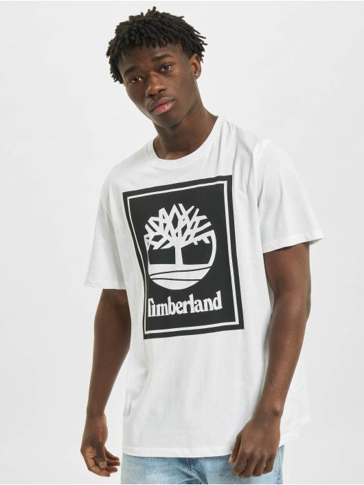 Timberland T-Shirt Yc Stack Logo blanc