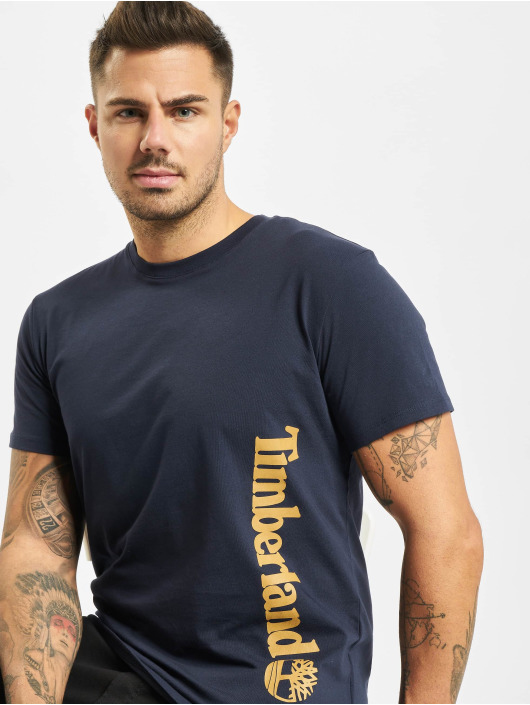 Timberland t-shirt Core Linear Logo blauw