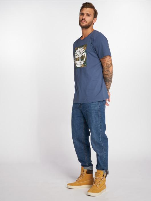 Timberland T-Shirt SSNL Pattern bleu