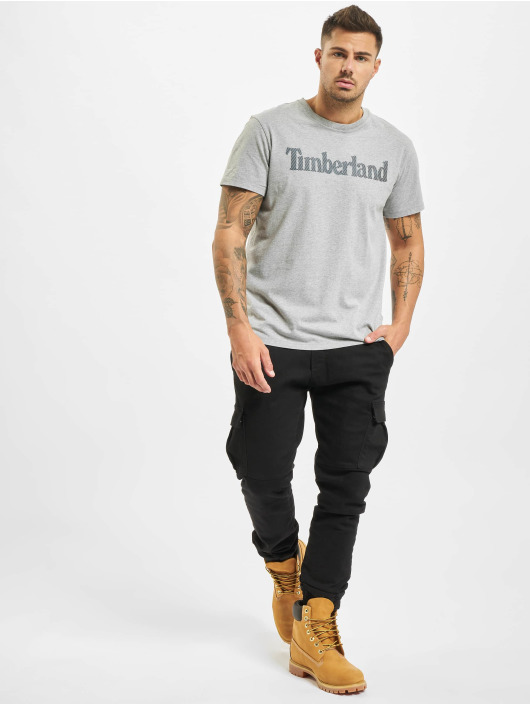 Timberland T-Shirt Ss Elevated Linear grau