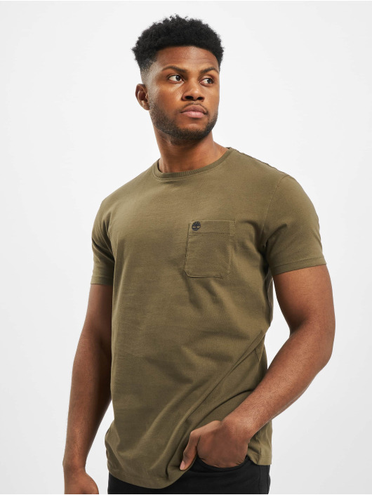 Timberland T-Shirt Dun-River Pocket green