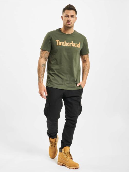 Timberland T-shirt Ss Kr Linear Regular grön