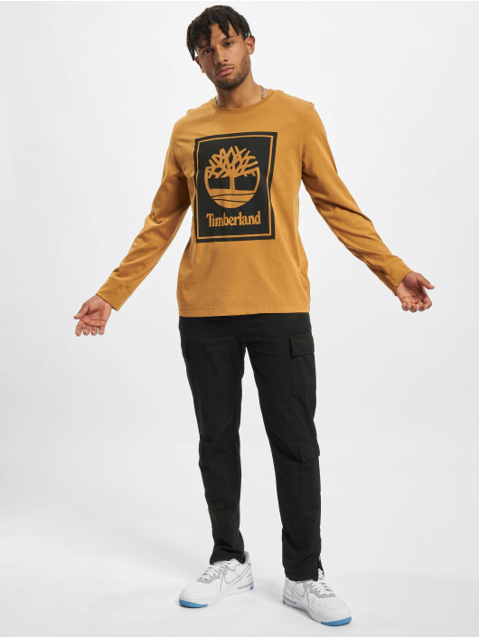 Timberland T-Shirt manches longues Stack Logo beige