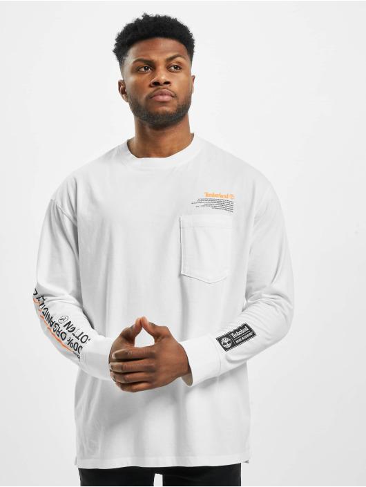 Timberland T-Shirt manches longues NNH Statm Print blanc