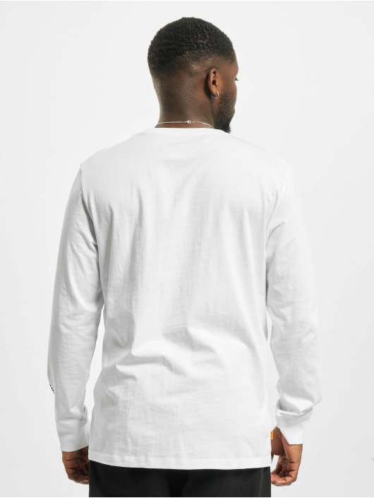 Timberland T-Shirt manches longues Stack Logo blanc