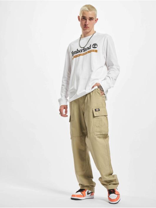 Timberland T-Shirt manches longues Established 1973 blanc