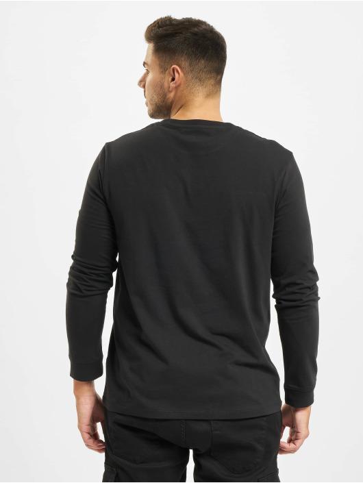 Timberland T-Shirt manches longues Ss Cut & Sew Lin Logo noir