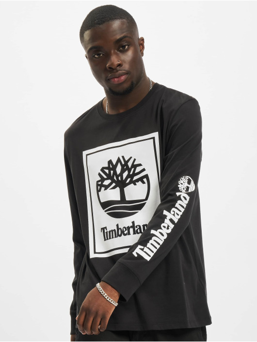 Timberland T-Shirt manches longues Stack Logo noir