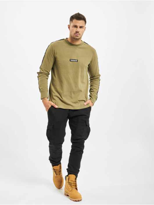 Timberland T-Shirt manches longues Ycc Ls Sls Tape olive