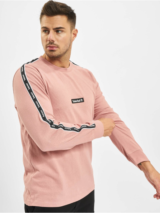 Timberland T-Shirt manches longues Ycc Ls Sls Tape rose