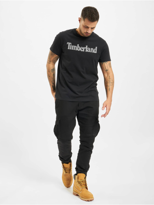 Timberland T-shirt Ss Elevated Linear nero