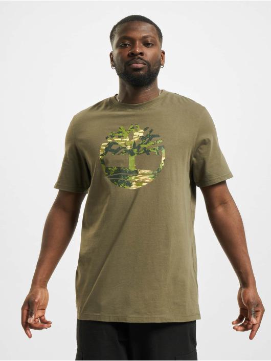 Timberland t-shirt Ft Tree olijfgroen