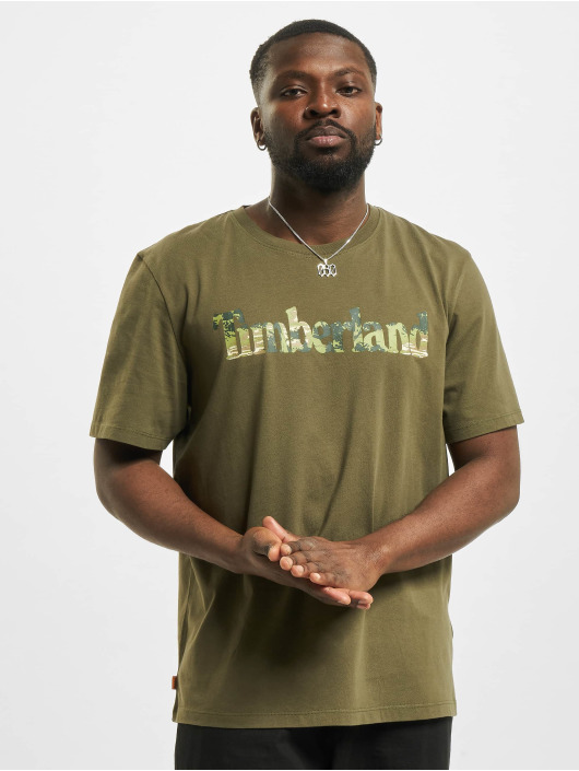 Timberland T-shirt Ft Linear oliv