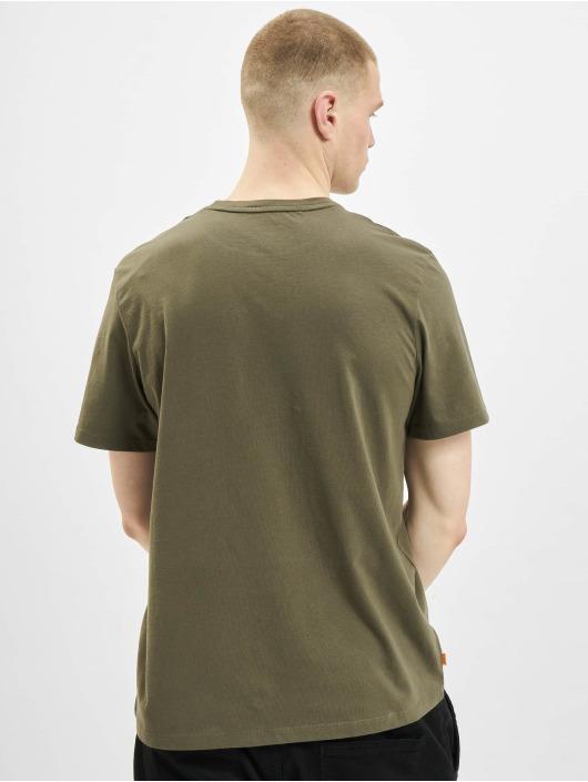 Timberland T-shirt K-R Brand Linear oliva