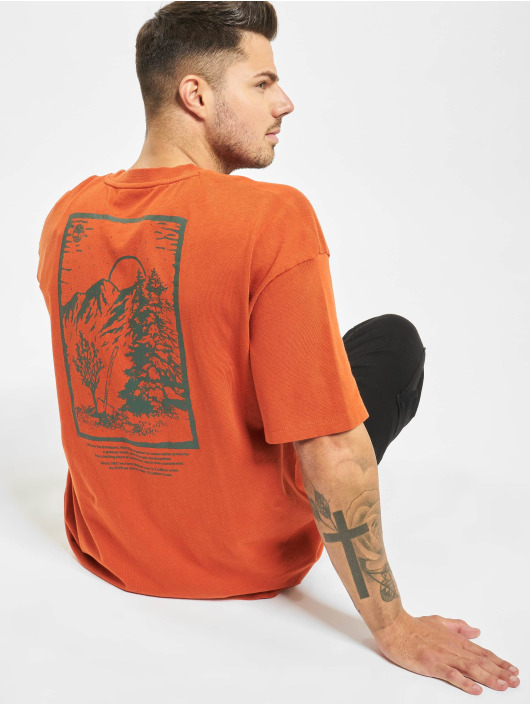 Timberland t-shirt Ss Outdoor Inspired oranje