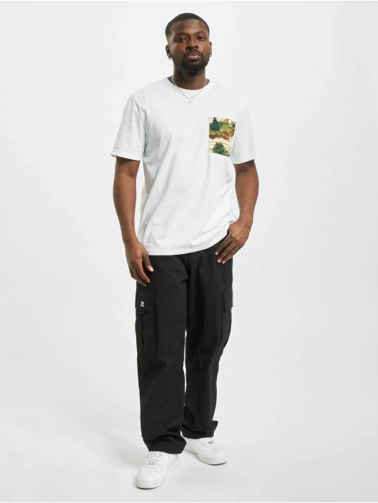 Timberland T-shirt Ft Print Pock vit