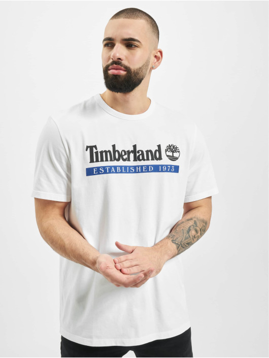Timberland T-Shirt SS Estab 1973 white