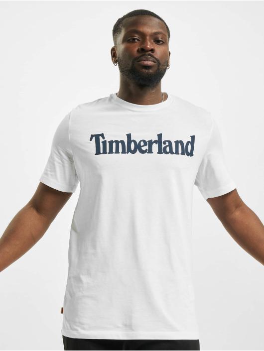 Timberland T-Shirt K-R Brand Linear white