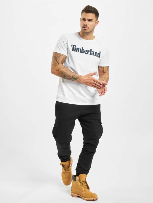 Timberland t-shirt Ss Kr Linear Regular wit