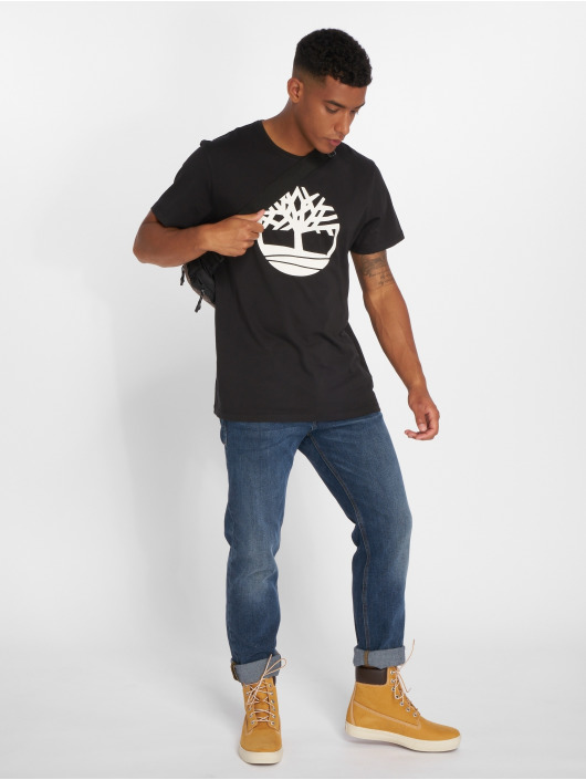 Timberland t-shirt Brand Tree Regular zwart
