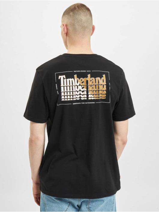 Timberland t-shirt Stacked zwart