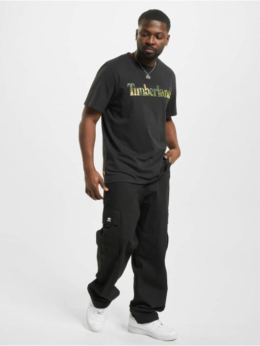 Timberland t-shirt Ft Linear zwart