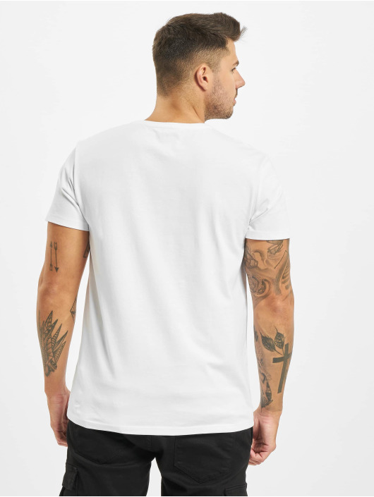 Timberland T-shirts Ss Kr Linear Regular hvid