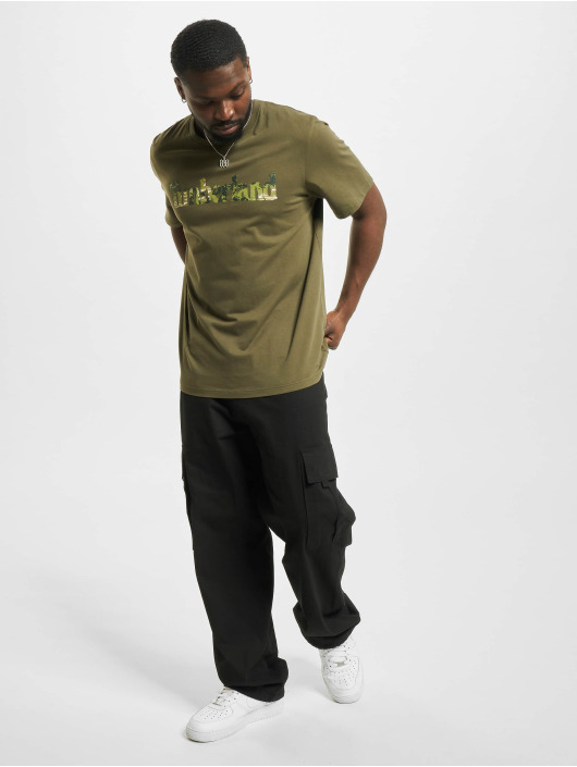 Timberland T-shirts Ft Linear oliven