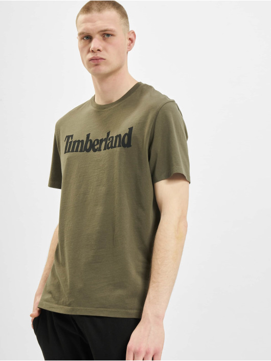Timberland T-shirts K-R Brand Linear oliven