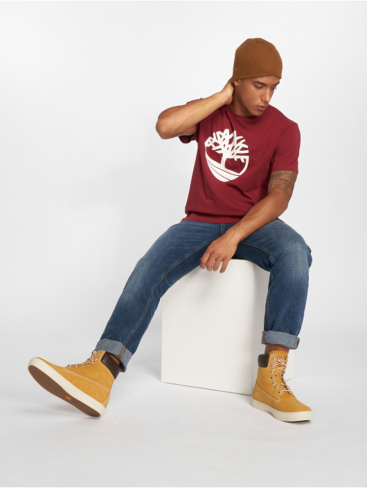 Timberland T-shirts Brand Tree Regular rød