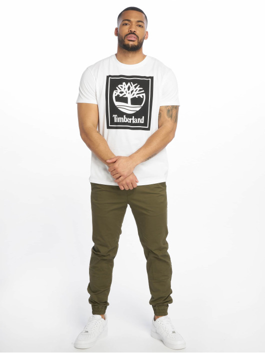Timberland T-Shirty YCC Stack Logo ECL bialy