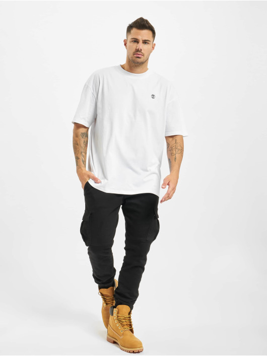 Timberland T-Shirty Ycc Ss Back Tree bialy