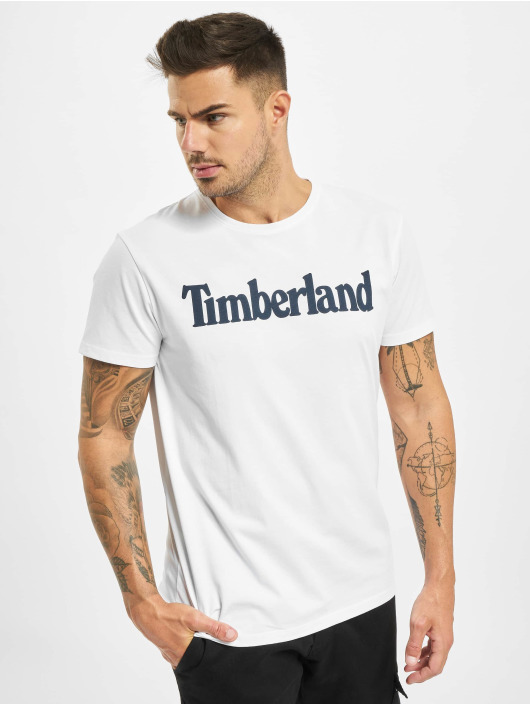 Timberland T-Shirty Ss Kr Linear Regular bialy