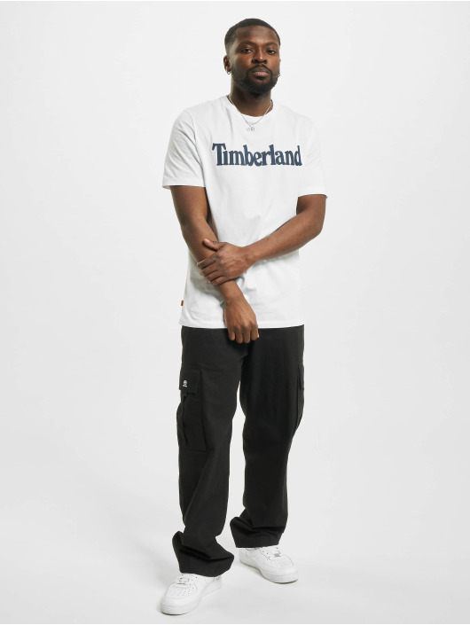 Timberland T-Shirty K-R Brand Linear bialy