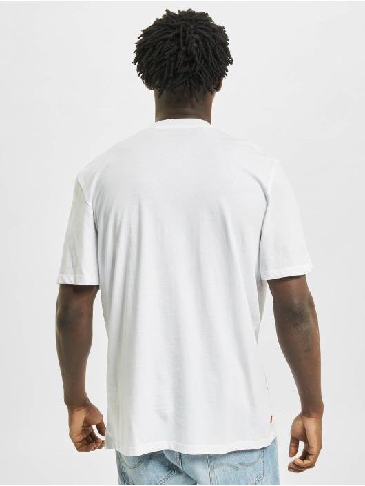 Timberland T-Shirty Yc Stack Logo bialy