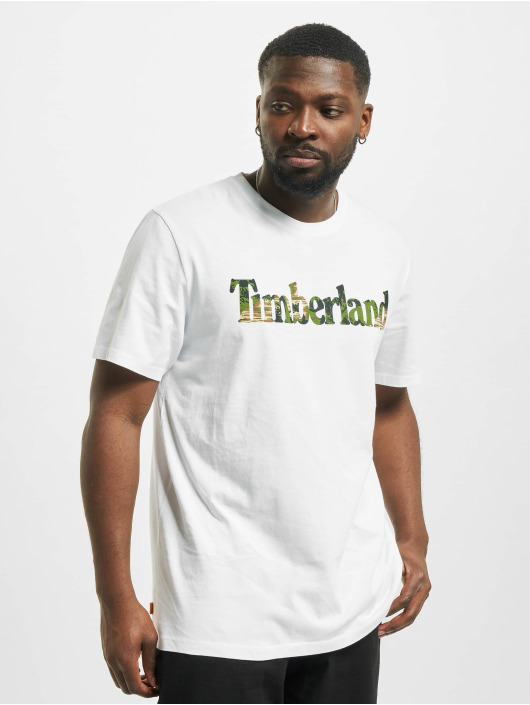Timberland T-Shirty Ft Linear bialy